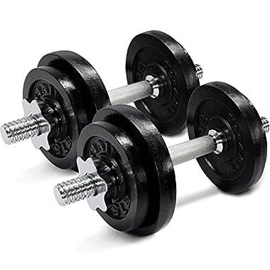 60 lbs Adjustable Cast Iron Dumbbells - ²D1IBZ
