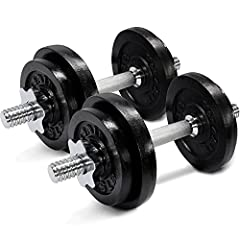 Yes4All Adjustable Dumbbells - 60 lb Dumbbell Weights (Pair)