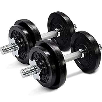 Yes4All Adjustable Dumbbells - 60 lb Dumbbell Weights  Pair