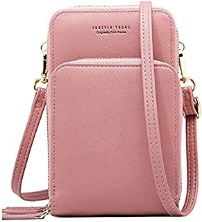 PALAY® Women Girls Ins Crossbody Shoulder Leather Tote Bag Zipper Wallet Ladies Purse-5 Compartments with 8 Credit & ID Cards Slots -2 Removable Straps