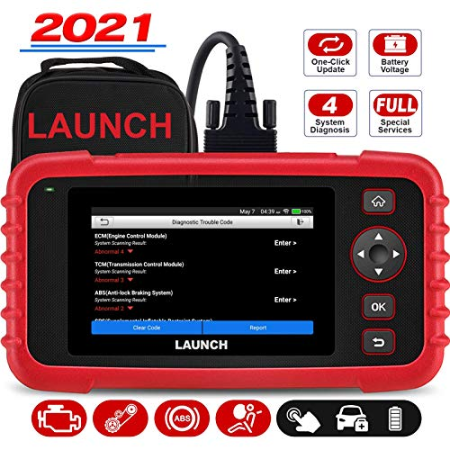"LAUNCH OBD2 Scanner CRP123X Code Reader for ABS SRS Engine Transmission Diagnostic Tool, 5.0"" Touchscreen Android 7.0-Based Wi-Fi One-Click Lifetime Free Update Scan Tool, Upgraded Version of CRP123"