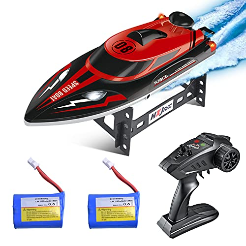 Remote Control RC Boat for Pools and Lakes, Kuman 25km/h High Speed Racing RC Boats for Kids and Adults