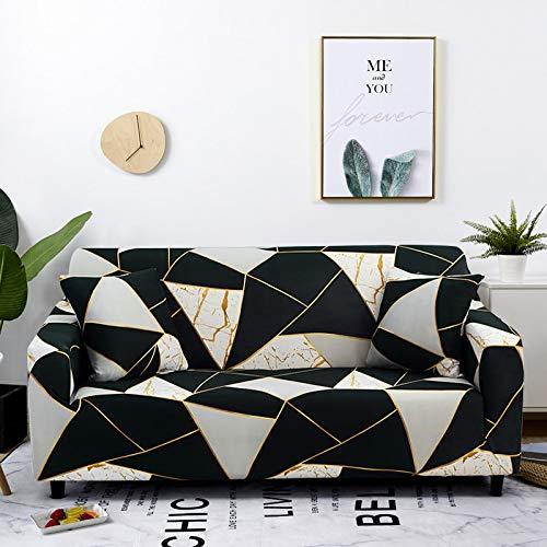 YWTT Stretchdruck Sofa Schonbezug Elastische Sofabezüge für Wohnzimmer Funda Sofa Stuhl Couch Bezug Home Decor 1/2/3/4 - Sitzer (145-185CM)