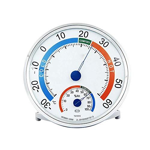 Volwco Thermo-hygrometer, binnen en buiten analoog geijkt, precisiethermometer, hygrometer, decoratieve nauwkeurige temperatuurcontrole, monitor weerteller, voor humidor/reptil incubator/broeikas