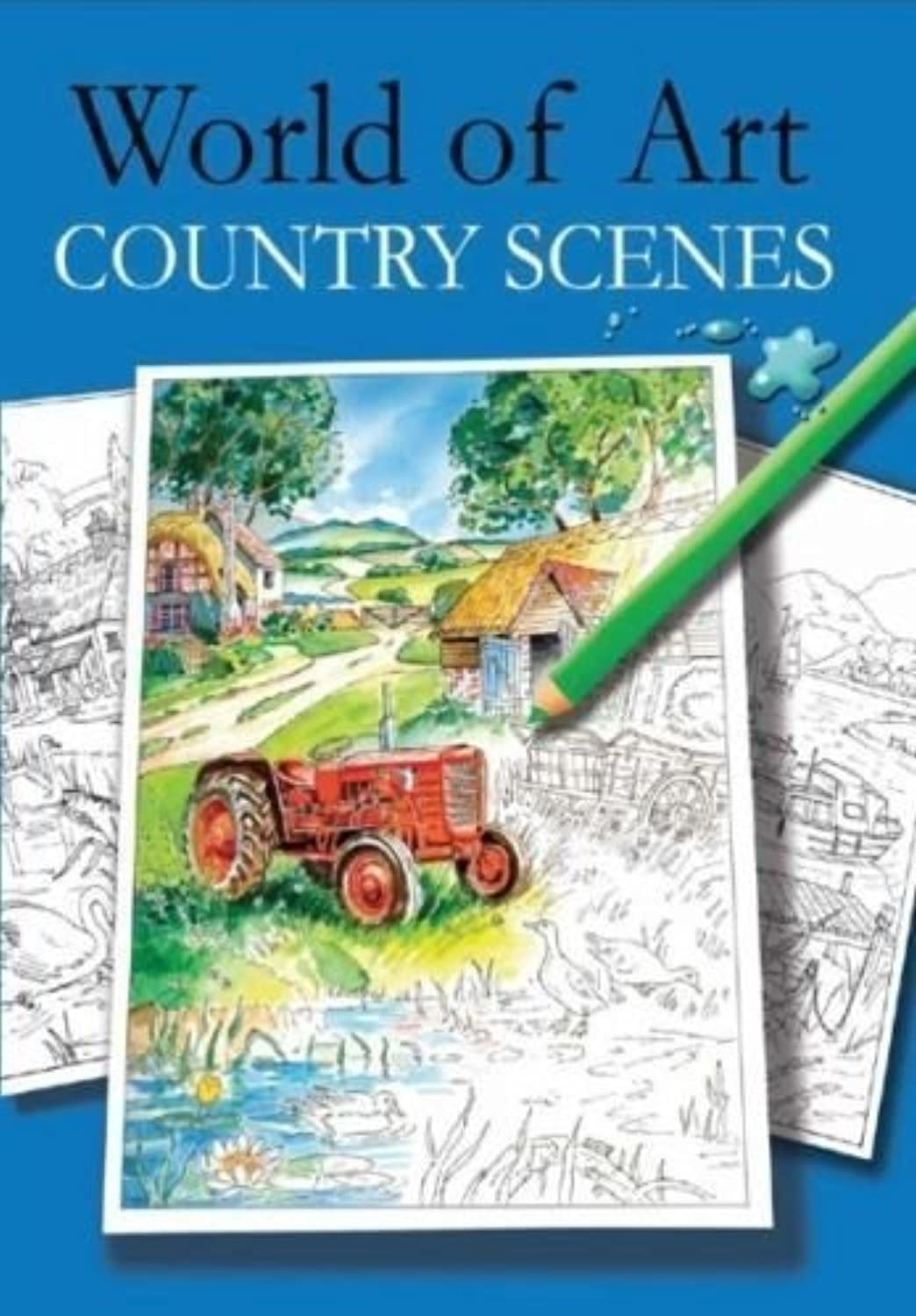Adult Colouring Books World of Art Hobby Therapy Relaxing A4 Drawing Scenes by World of