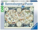 Ravensburger 16003 Map of The World 1500 Piece Puzzle for Adults - Every Piece is Unique, Softclick Technology Means Pieces Fit Together Perfectly