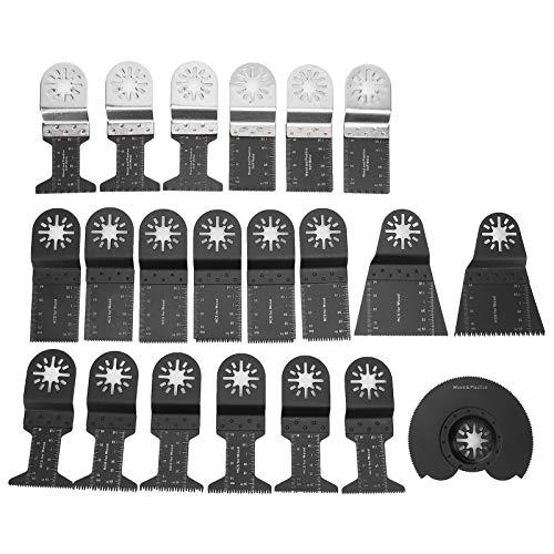 21St Oszillierende SäGebläTter Universal Holz Metall Mehrfachwerkzeug Schnellspanner Leistung Oszillierende Werkzeugklingen Schneideklinge zum Polieren Mahlen Fliesen MöRtelecke Marmor
