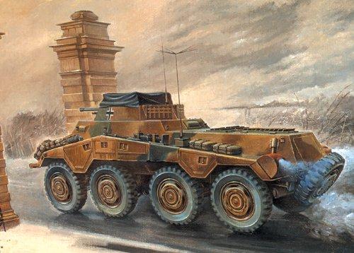 Roden Sdkfz 234/1 Military Armored Car Model Kit
