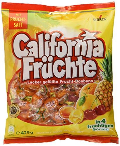 California Früchte – (15 x 425g Beutel) – Fruchtige Lutschbonbons mit Fruchtsaftfüllung in verschiedenengeschmacksrichtungen wie Ananas &grapefruit