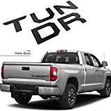 GLAAPER 3D Raised Tailgate Insert Letters Rear Emblems, Plastic Inserts with 3M Adhesive Backing Replacement for 2014 2015 2016 2017 2018 2019 2020 2021 Toyota TUNDRA(Matte Black)