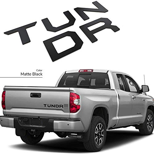 GLAAPER 3D Raised Tailgate Insert Letters Rear Emblems, Plastic Inserts with 3M Adhesive Backing Replacement for 2014 2015 2016 2017 2018 2019 2020 2021 Tundra(Matte Black)