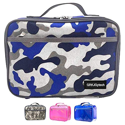 Insulated Lunch Bag, 600D Oxford Cloth Portable Leakproof Food Drink Camo...