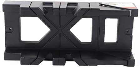 Caja de sierra ingletadora, resistente al desgaste, barra de corte deslizante, sierra ingletadora con ABS (Negro)