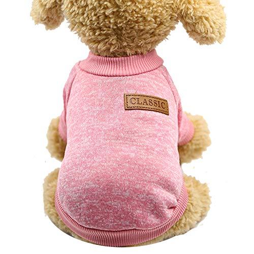 qiangdedianzishang Hundepullover, klassisch, warm, für kleine Haustiere, Mehrfarbig