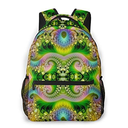 Fashion Backpack for Teen Girls Trippy Casual Shoulder Bag Student Daypack Travel Laptop Bag for Men Women