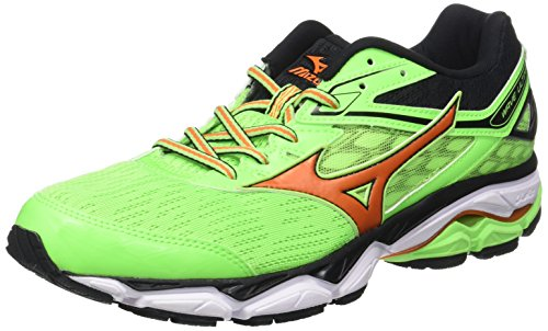 Mizuno Wave Ultima, Zapatillas de Running para Hombre, Multicolor (Greengecko/Vibrantorange/Black), 42 EU
