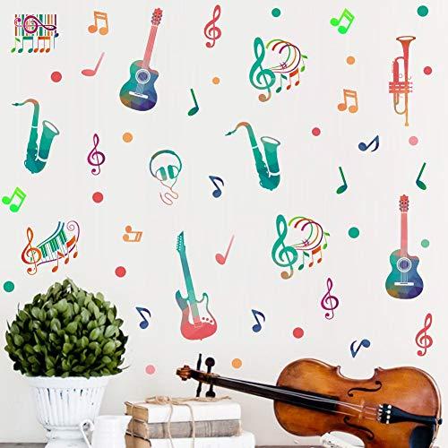 Calcomanía de pared con música para decoración del hogar