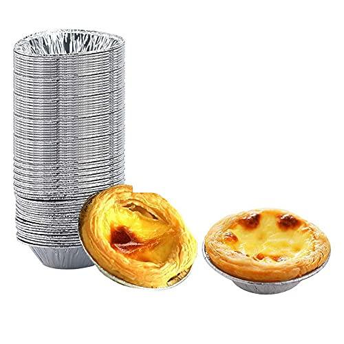 Huevo Tarta Herramienta, Mini Tarta de Huevo, Tarta de Huevo Redondo Molde, DIY Tarta de Huevo , Bandeja de Tarta de Huevo, Molde de Tartaleta de Huevo Aluminio, para Hornear de Cocina