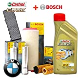 SMC KTB022 + CAST 5W30-7 Kit de Revisión y Cambio de Aceite Castrol Edge 5W30 (6 Litros) y 4 Filtros Bosch