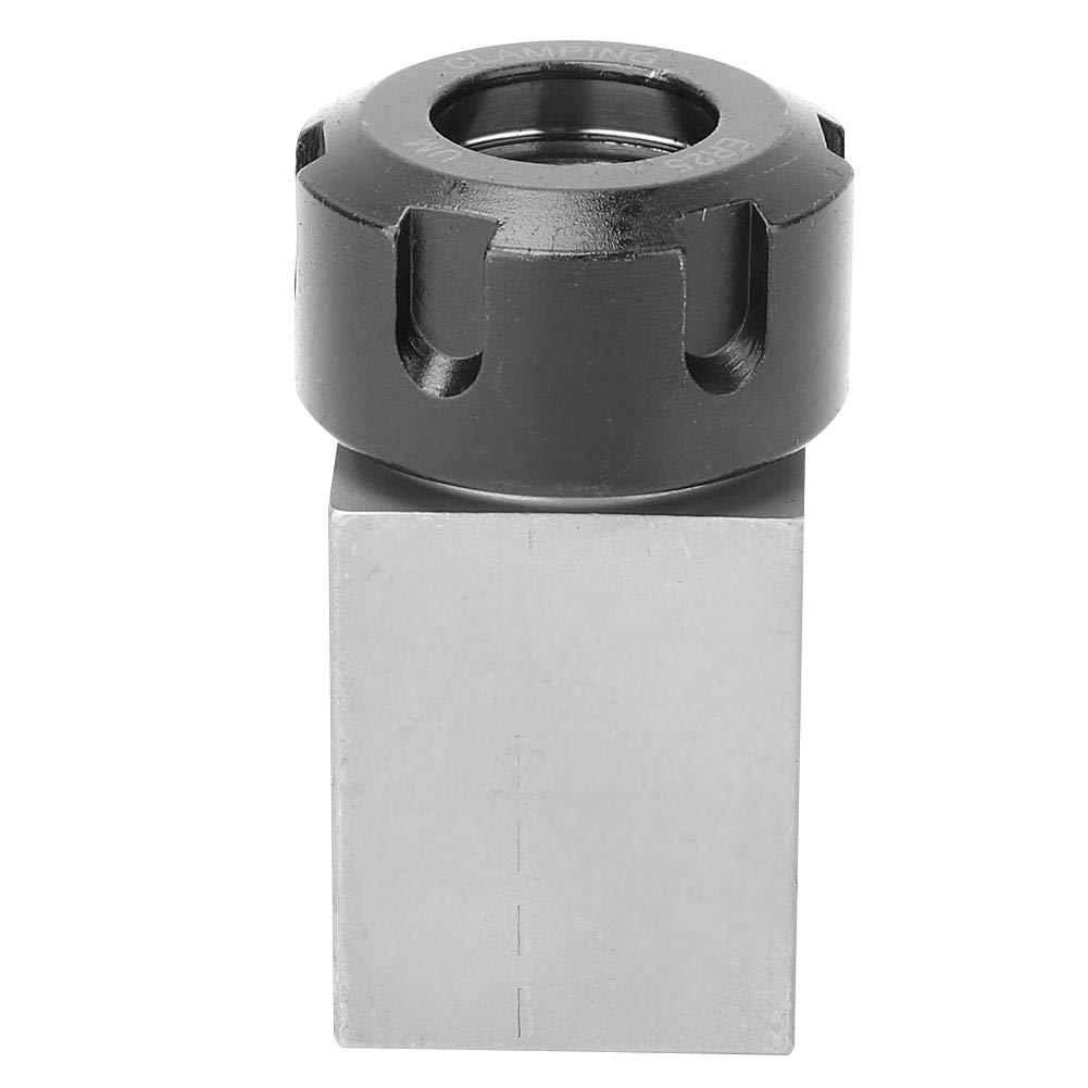 ER25 Collet Block Hard Steel Spring Chuck Collet Holder for CNC Lathe Engraving Cutting Machine Square