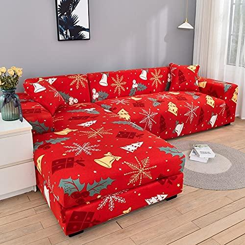 Fundas de sofá elásticas para Sala de Estar Funda de sofá elástica para sillón Funda para sofá Chaise Lounge A22 de 3 plazas