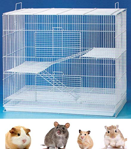 "Mcage New 3 Levels Ferret Chinchilla Sugar Glider Rats Animal Cage 24"" L x 16"" W x 24"" H with Tight 3/8-Inch Bar Spacing"
