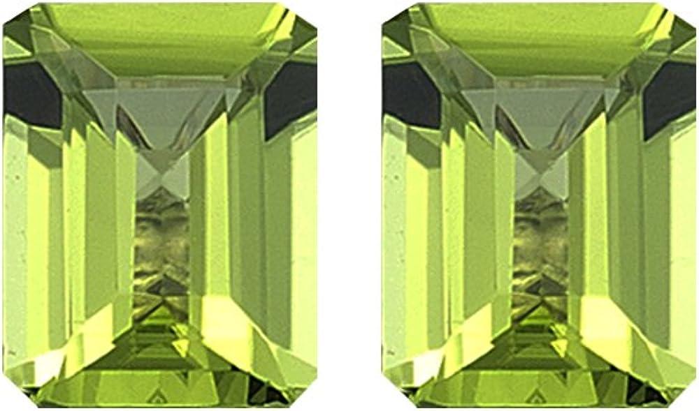 Mysticdrop Natural Free Shipping Cheap Bargain Gift Peridot Emerald Cut pcs AAA Loose Quality Ranking TOP19 2