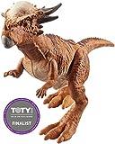 Jurassic World Dinosaurio Stygimoloch de ataque, dinosaurio de juguete (Mattel FVJ90)