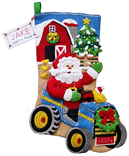 Bucilla Christmas on The Farm Felt Stocking Kit