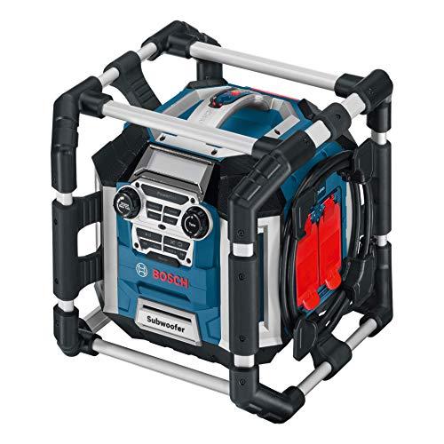 Bosch Professional GML 50 Accu, bouwplaatsradio, 18 V, 50 watt, USB, AUX-in, geïntegreerde acculader, afstandsbediening, zonder batterijen en oplader, in doos)
