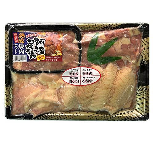 阿波尾鶏 鶏肉 地鶏 熟成鶏肉 焼肉セット 冷凍鶏肉 冷凍焼肉 詰め合わせ もも細切り 手羽中 肩小肉 せせり 鶏肉4種セット 800g【冷凍便別送】