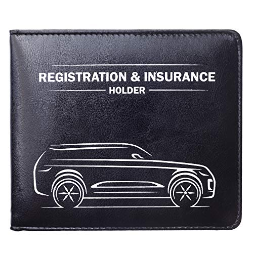 CANOPUS Car Registration and Insurance Holder with Magnetic Closure, Car Document Holder, Vehicle Glove Box Organizer, Wallet for Auto, Motorcycle, Truck and more, 1 Pack with EZ Pass Strip, SUV