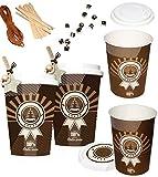 alles-meine.de GmbH 24 Stück _ Geschenkboxen / Papierboxen -  Coffee to go / Glühwein & Kaffee Becher  - zum Befüllen - aus Papier / selber Basteln - für Erwachsene / Kinder / ..