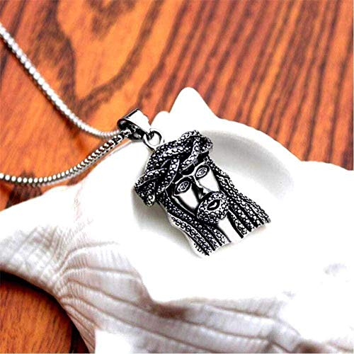LBBYMX Co.,ltd Necklace Fashion Ribbon Color Jesus Christ Coin Head Face Pendant Charm Choker Holiday Accessories Hip Hop Necklace