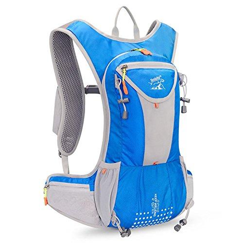 Paracity 12L en Nylon imperméable Sports de Plein air Sac à Dos Sac de Ceinture d'épaule, Bleu