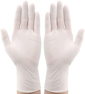 Clear Vinyl Gloves,Disposable PVC Gloves Latex Free, Powder Free, Non-Sterile, Food Safe, 100 Pack - Large Size Examination Gloves and Comfortable to Wear