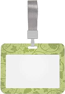 Porte-badges horizontaux Grands grappes de raisins verts Protecteur de porte-cartes 4x3 avec lanière Porte-identification ...