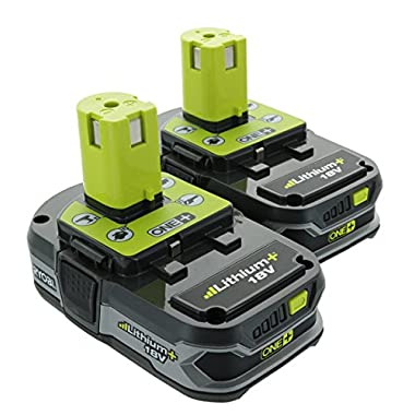 Ryobi P107 One+ 18 Volt Compact Lithium Ion 1.5 Ah Battery Multi Pack (2 Batteries)