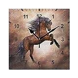ISAOA - Orologio da parete silenzioso, a forma di cavallo...