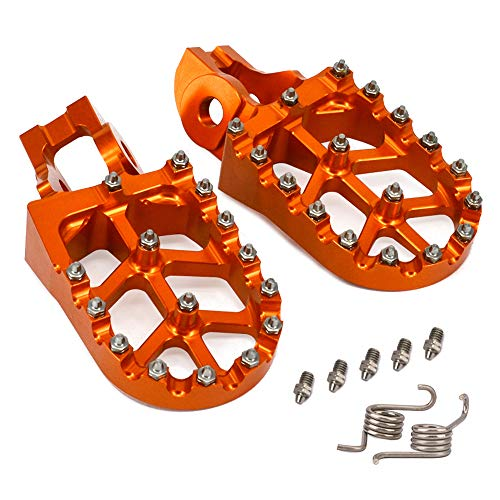 520 EXC 1998-2015 Auzkong Wide Foot Pegs Motorcycles Footpegs CNC Footrest Pedals for KTM 50 SX//Mini 2009-2017 250 SX 1998-2015 500 EXC-F 1998-2015 Orange
