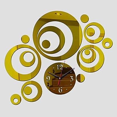 Chair-home 2015 New 3D DIY Wall Clock Acrylic Mirror Sticker Reloj De Pared Horloge