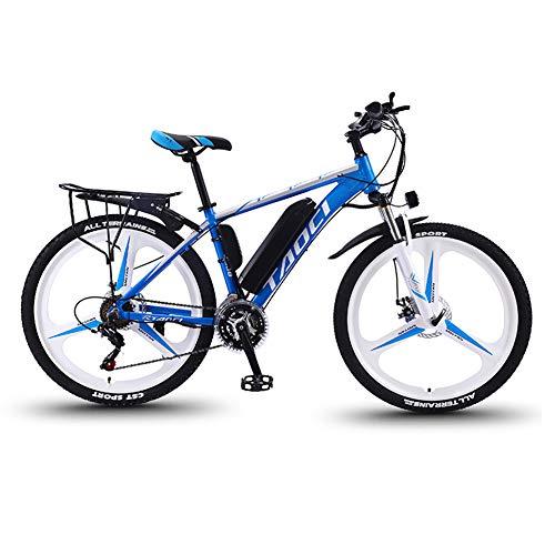 """Hyuhome Vélos électriques pour Adultes, en Alliage de magnésium eBikes Vélos Tout Terrain, 26"""" 36V 350W 13Ah Amovible au Lithium-ION pour Hommes Montagne Ebike,Bleu,13Ah80Km"""