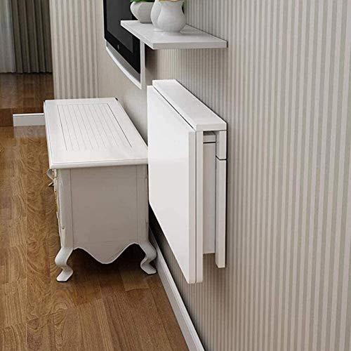 Mesa de Hojas abatibles montada en la Pared/Mesa Flotante Plegable para computadora portátil/Escritorio Que Ahorra Espacio/Balcón del baño del Dormitorio (Color: 80cm & Times; 50cm)