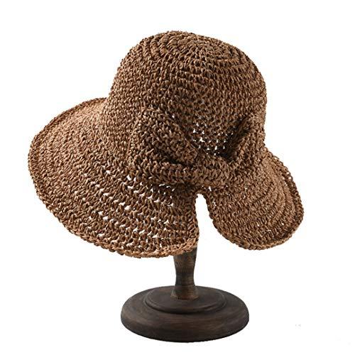 F&ELEGSH - Sombrero de verano para mujer, para primavera, sombrero plegable con nudo, sombrero para mujer, verano