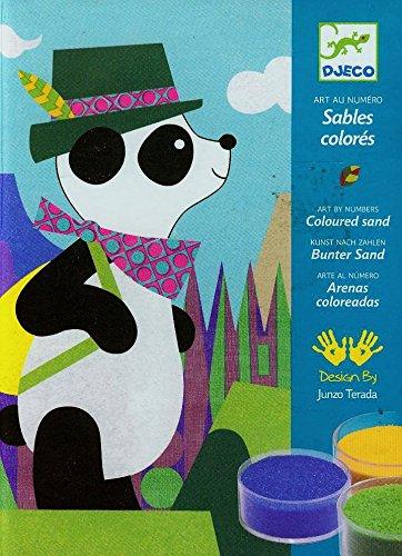 Djeco - sables colorés - panda et ses copains