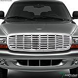 TLASP 7422453173187 For 1997-2004 Dodge Dakota / 1998-2003 Durango Chrome Horizontal Front Grille