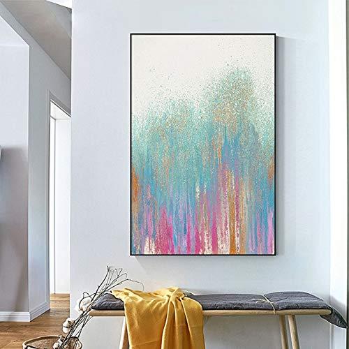 Geen frame ng kasteel, glanzend gouden lak canvas olie ng, bedrukking appartement, corporate wallpaper60x90cm