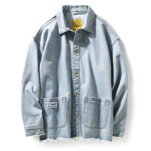 XIELH heren bomberjack, lange mouwen, met ronde hals, Streetwear, JK10, XL