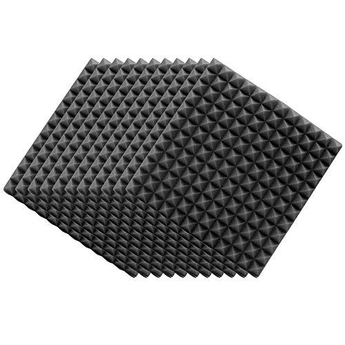 Pannelli Fonoassorbenti, 12 pezzi pannelli acustici in schiuma fonoassorbente in schiuma fonoassorbente pannelli da parete cunei, pannelli in schiuma fonoassorbente in schiuma fonoassorbenti