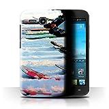 Stuff4 Hülle/Hülle für Huawei Ascend Y600 / Wintersport Muster/Skifahren/Snowboard Kollektion
